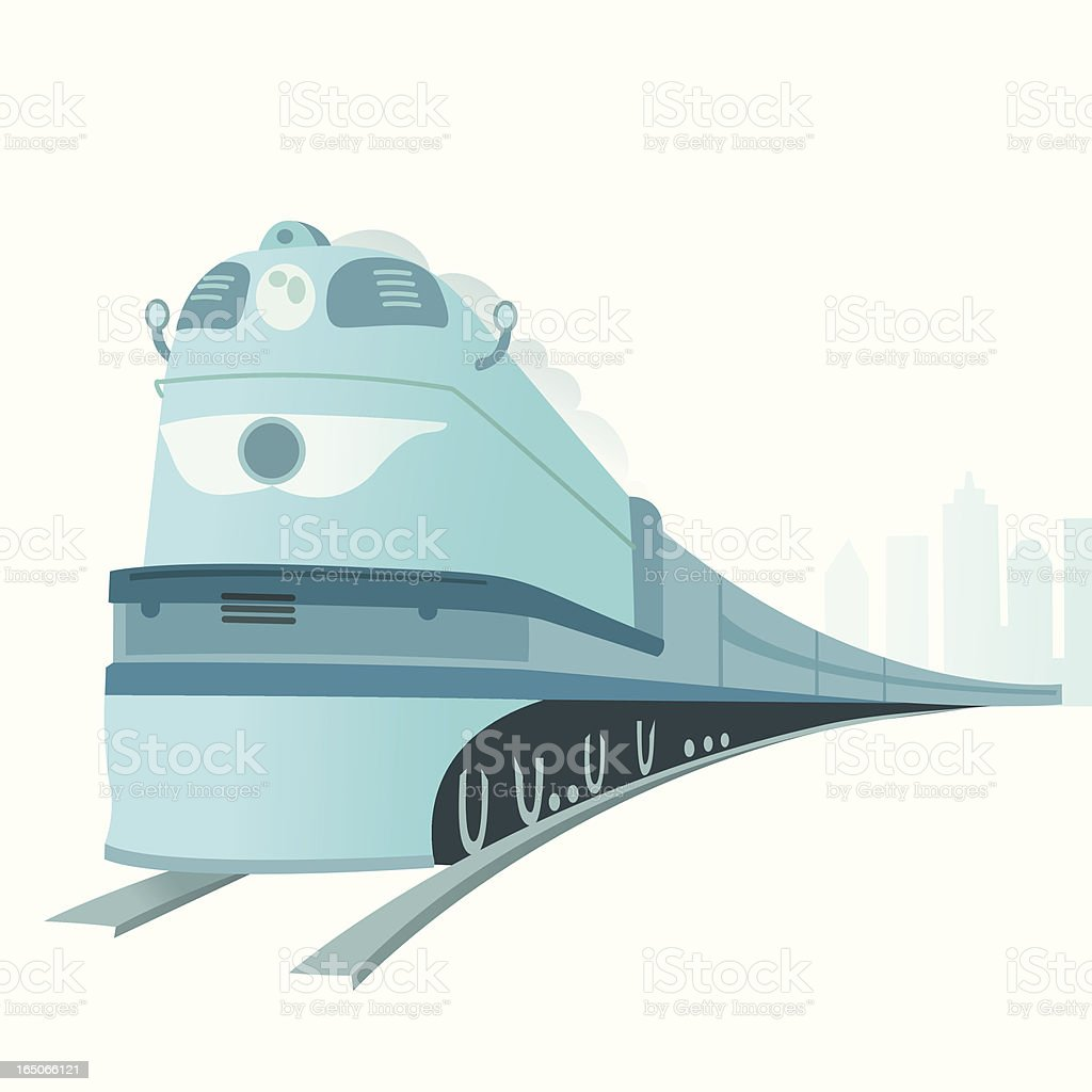 Big Old Train vector art illustration
