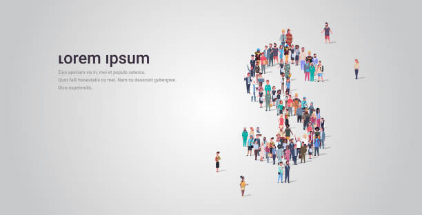 big people crowd standing together in shape of dollar sign different occupation employees group financial success money concept full length horizontal copy space big people crowd standing together in shape of dollar sign different occupation employees group financial success money concept full length horizontal copy space vector illustration police meeting stock illustrations