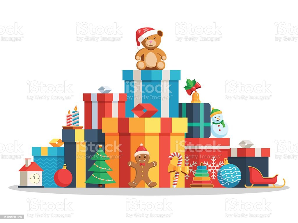 Big pile gift boxes and toys 615626126 istock big pile gift boxes and toys negle Images