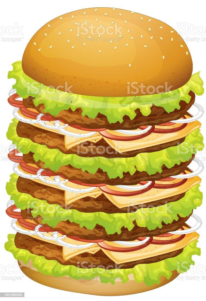 Big pile of hamburger royalty-free stock vector art