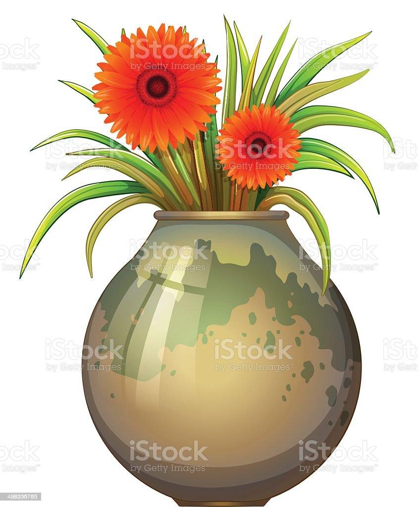 Gros Pot De Fleurs Avec Vecteurs Libres De Droits Et Plus D