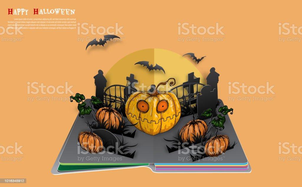 Big pumpkin on halloween night.