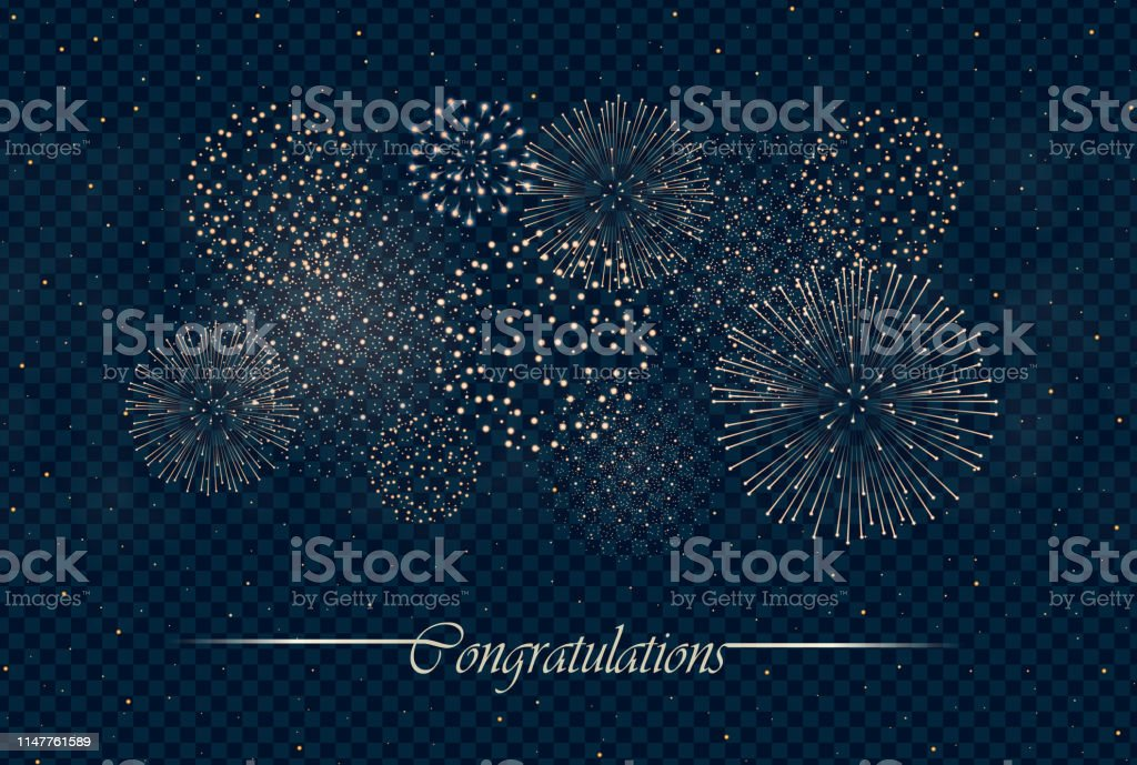 Big realistic firework show isolated on transparent night sky background. Independence day concept. Congratulations background. Luxury abstract. Explosion concept. Galaxy show. Vector illustration Big realistic firework show isolated on transparent night sky background. Independence day concept. Congratulations background. Luxury abstract. Explosion concept. Galaxy show. Vector illustration Abstract stock vector