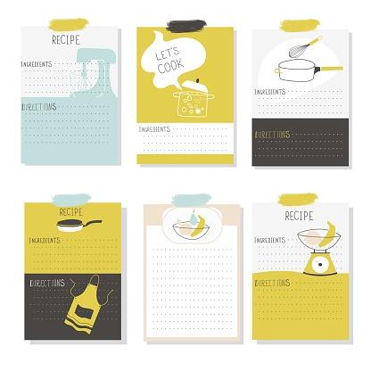 Big Recipe Creator. 6 template for cookbook. Menu Creator for restorants.