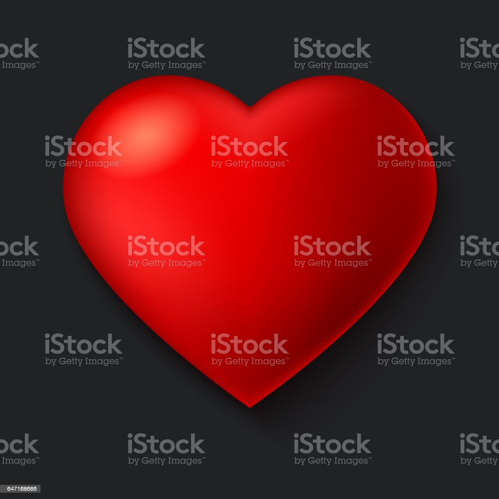Big red a scarlet heart isolated on dark background with shadow big red a scarlet heart isolated on dark background with shadow royalty free big buycottarizona Image collections