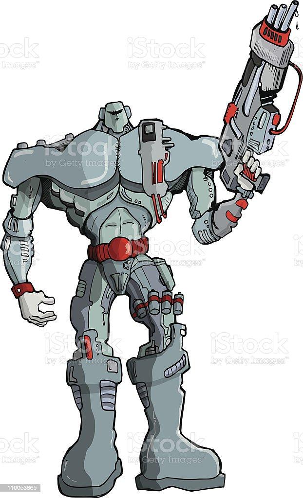 Big Robot Soldier royalty-free stock vector art