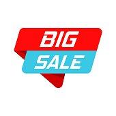 Big sale banner badge icon. Vector illustration. Business concept big sale pictogram.
