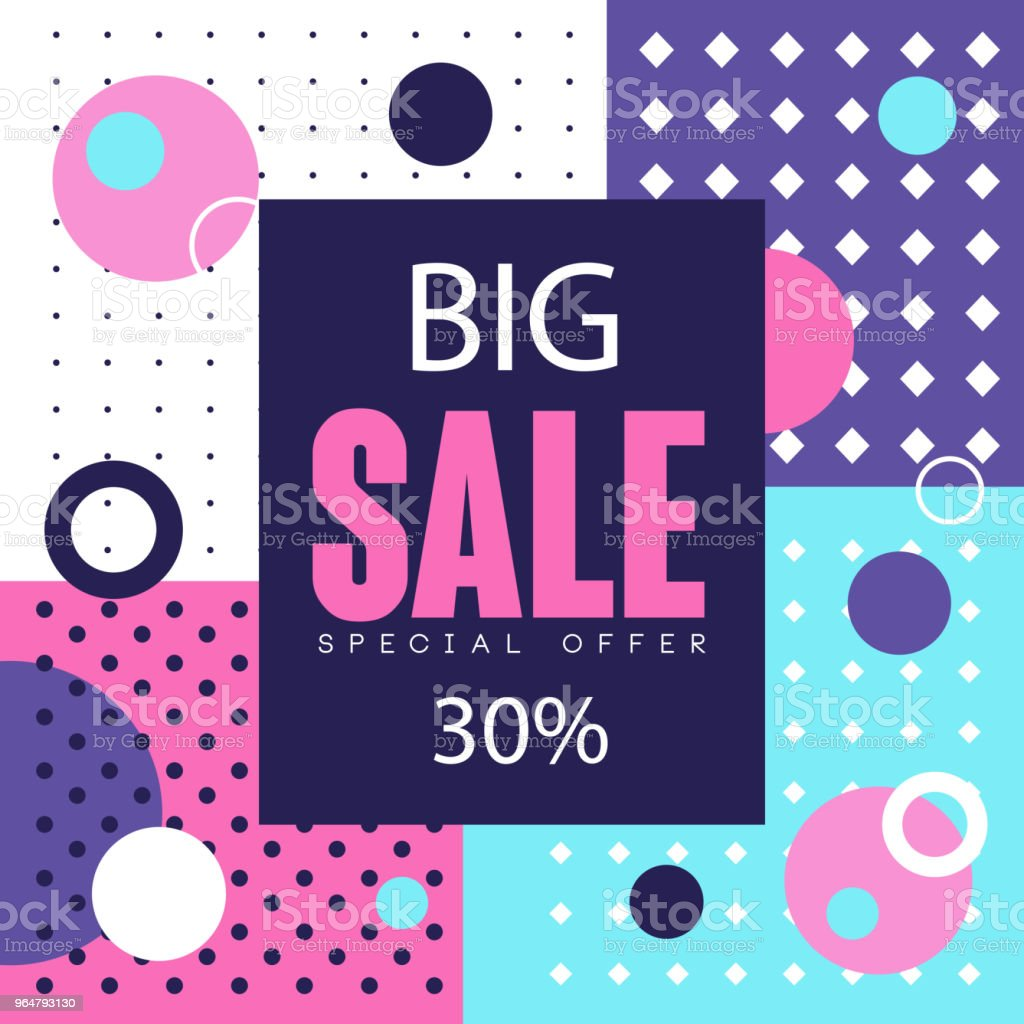 Big sale banner up to 30 percent off template design, seasonal discount, advertising element vector Illustration royalty-free big sale banner up to 30 percent off template design seasonal discount advertising element vector illustration stock vector art & more images of advertisement