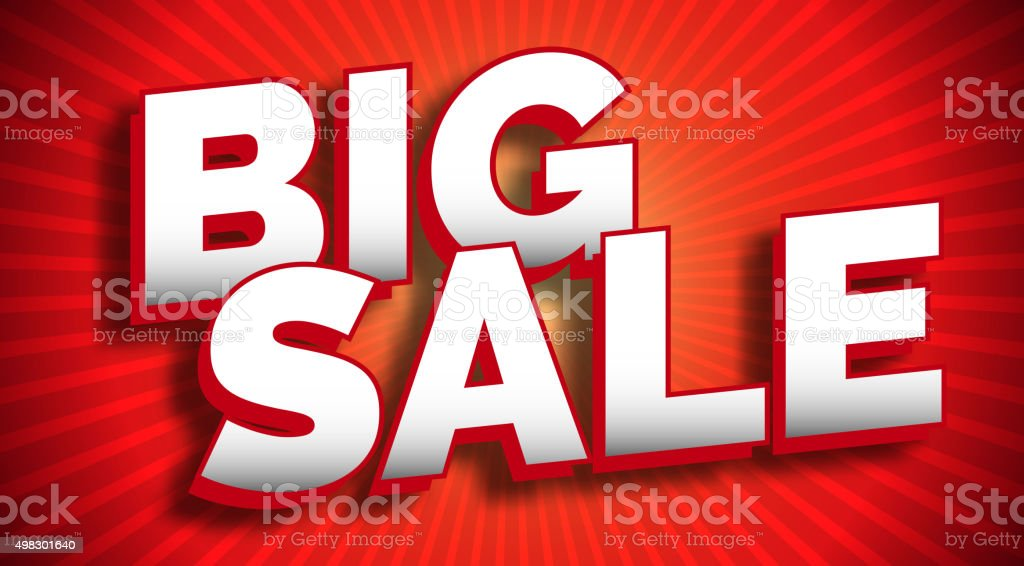 Big sale banner vector art illustration
