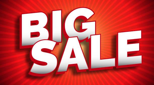 großer sale banner - groß stock-grafiken, -clipart, -cartoons und -symbole