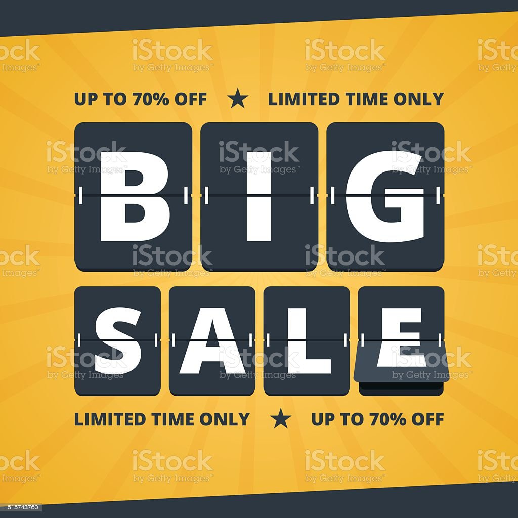 Big sale banner. vector art illustration