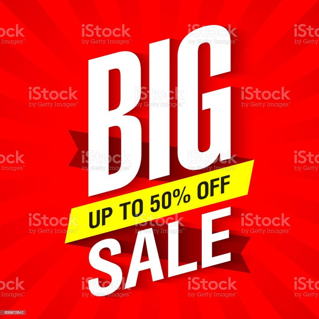 Big Sale banner vector art illustration
