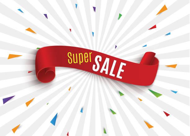 ilustraciones, imágenes clip art, dibujos animados e iconos de stock de gran venta banner.super venta banner cinta. ilustración de vector - gran inauguración