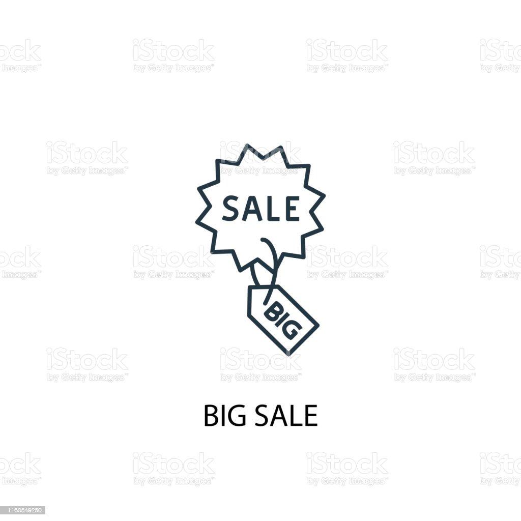 big sale concept line icon. Simple element illustration. big sale...