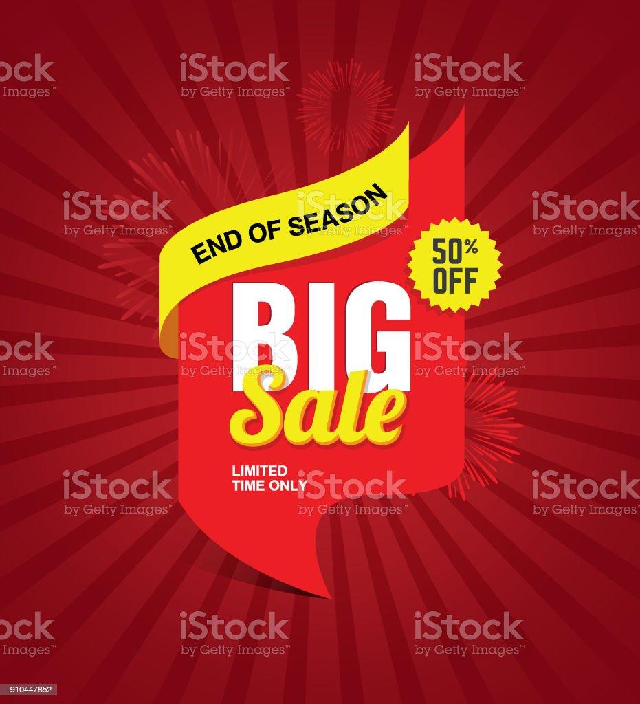 Big Sale Festival Banner vector art illustration