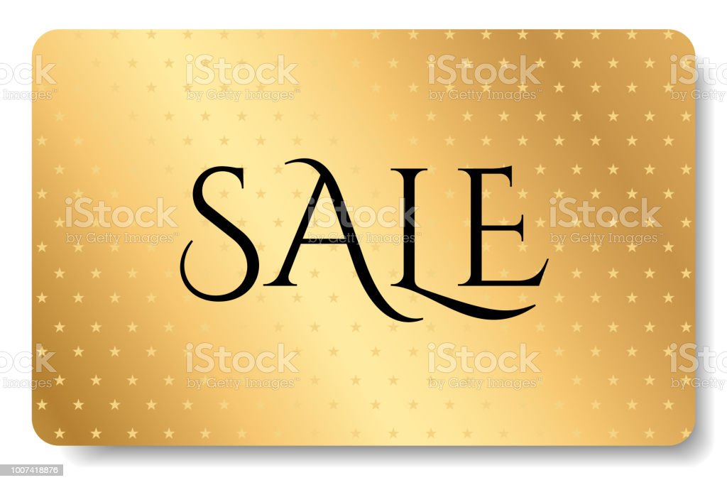Big Sale Gift Card Gift Coupon With Gold Pattern Golden Background