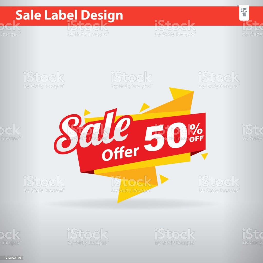 Big Sale label 50% offer discount, Big Sale Tag
