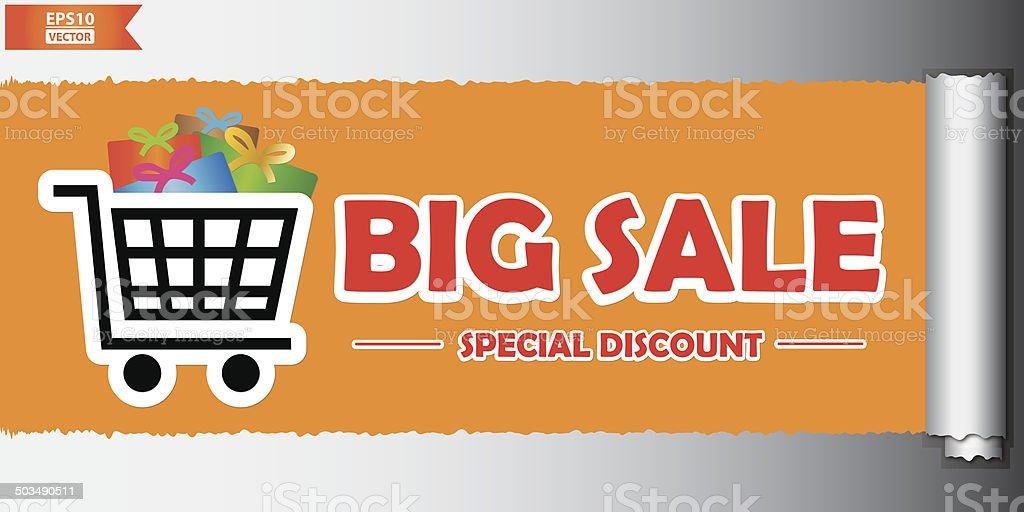 Big sale poster or banner. Eps10 Vector vector art illustration