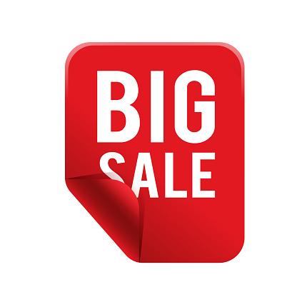 Big Sale Red Square Frame Banner Vector Image Stock Illustration - Download Image Now