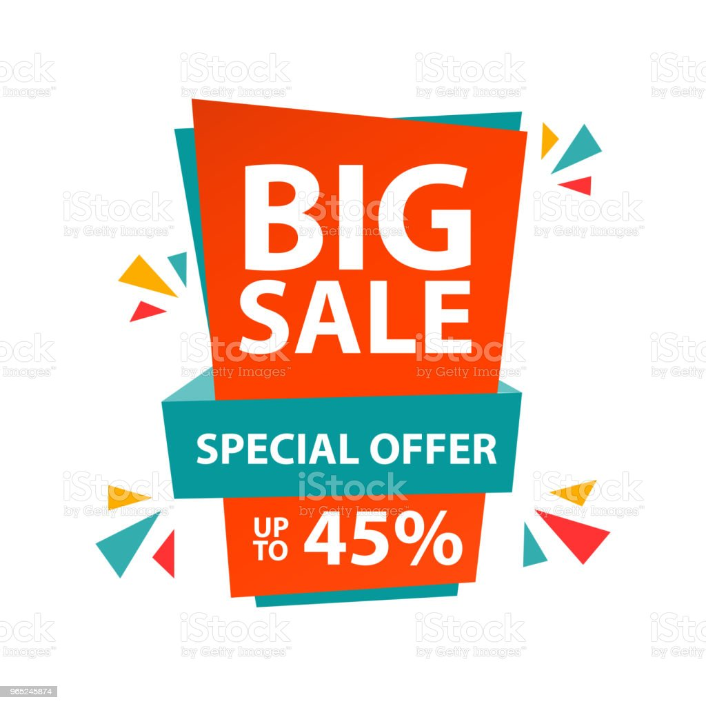 Big Sale Special Offer up to 45% Vector Template Design big sale special offer up to 45 vector template design - stockowe grafiki wektorowe i więcej obrazów abstrakcja royalty-free
