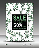 Big sale template banner, business brochure flyer, poster, advertisement, cover design, layout in a4 size