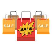 Shopping Bag, Bag, Paper Bag, Sale, Retail