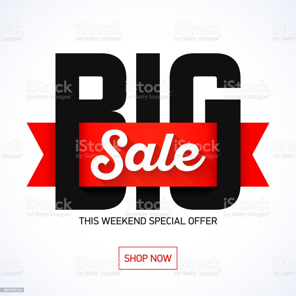 Big Sale Weekend banner vector art illustration