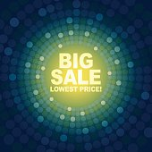 Big Sale with green background
