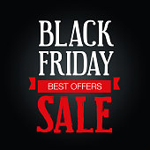 Big Sales Black Friday Poster on a white background