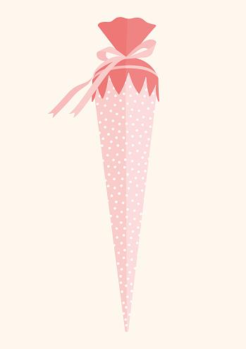 big school cone pink