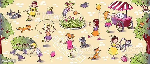 Big seamless pattern with playing girls vector id522295111?b=1&k=6&m=522295111&s=612x612&h=qlmkbb9tu38cwhrycs9nhzqv3pnxbdkjwxusy5hcydk=