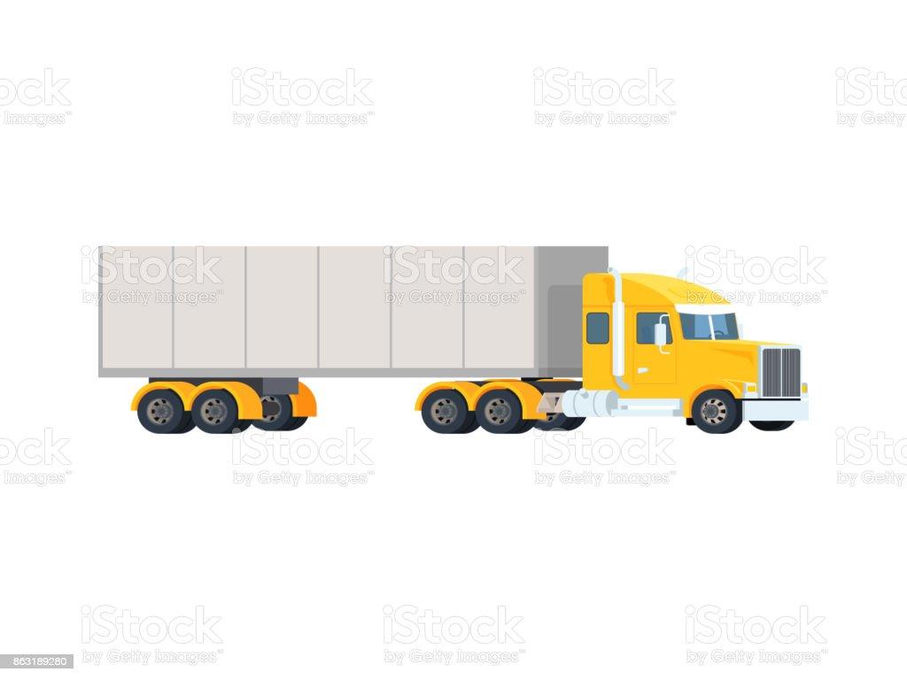 Big Semi Truck Concept Logistic And Delivery Cargo Auto