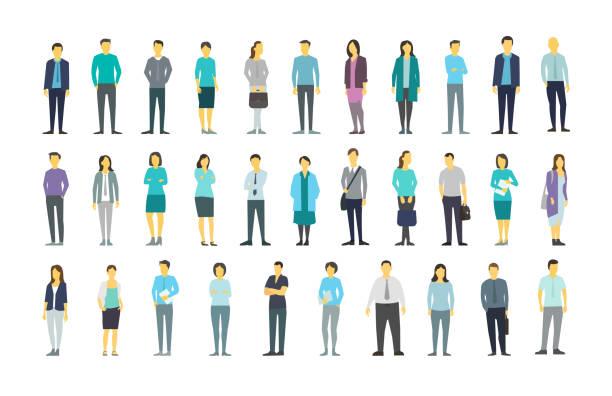 大きな多くの人行群衆の中に人々 の束の多くの設定します。株式ベクトル図 - 背景に人点のイラスト素材/クリップアート素材/マンガ素材/アイコン素材