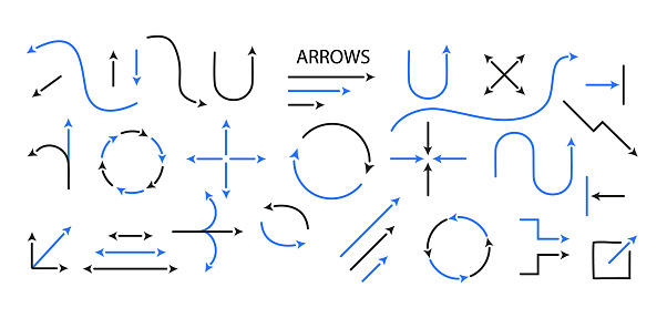 Big Set Arrows and directions signs.