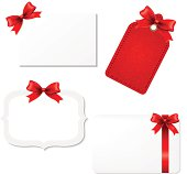 Blank Gift Tags. Vector Illustration EPS10. Contains transparency.