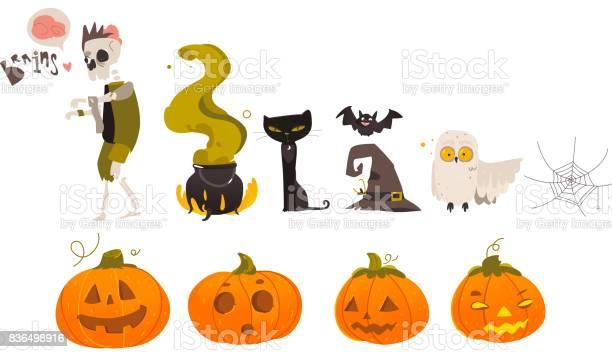 Big set collection of cartoon halloween objects vector id836498916?b=1&k=6&m=836498916&s=612x612&h= xgf5uh0v11bxgbpa4oq08qswjbemzdgke0lfnk xt4=