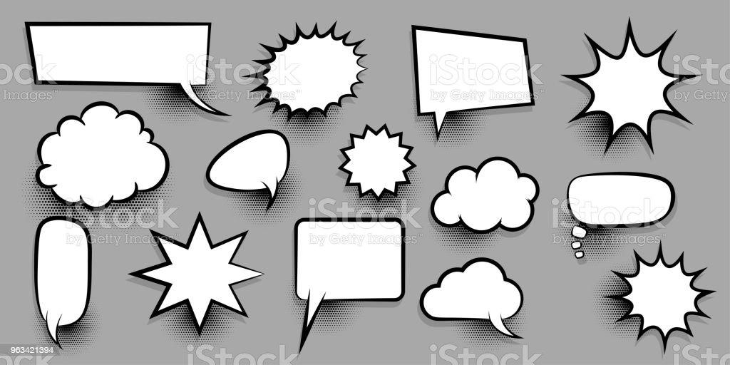 Grand jeu vide parole bulle comique texte - clipart vectoriel de Art libre de droits