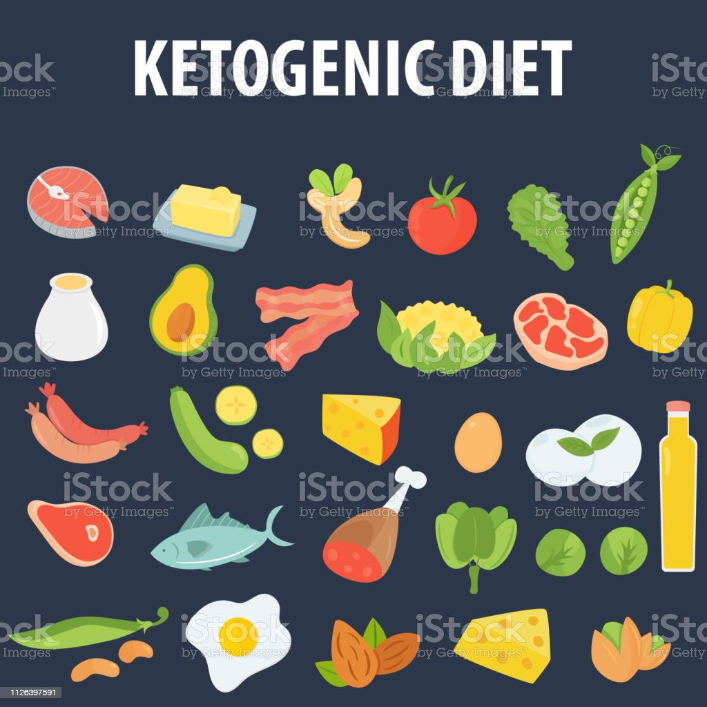 Big Set Of Allowed Product For Keto Diet Low Carb High Healthy Fats Stock Illustration Download Image Now Istock