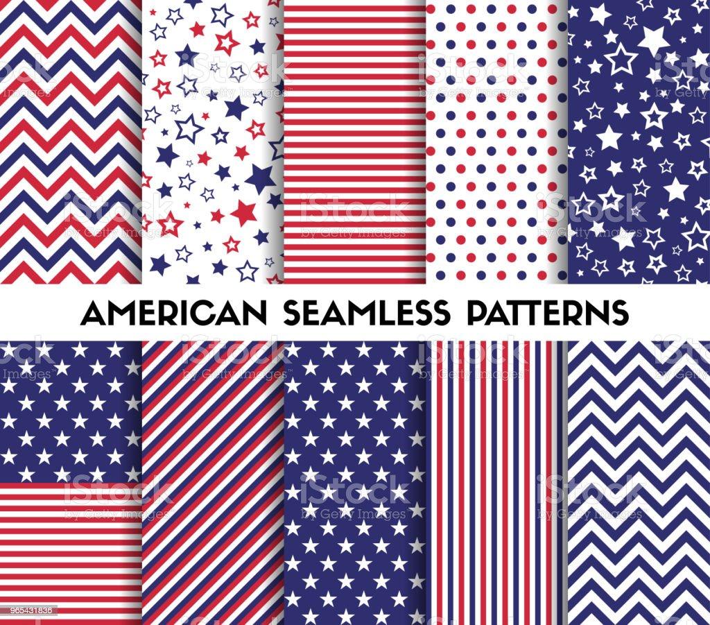 Big set of american style vector seamless patterns big set of american style vector seamless patterns - stockowe grafiki wektorowe i więcej obrazów abstrakcja royalty-free