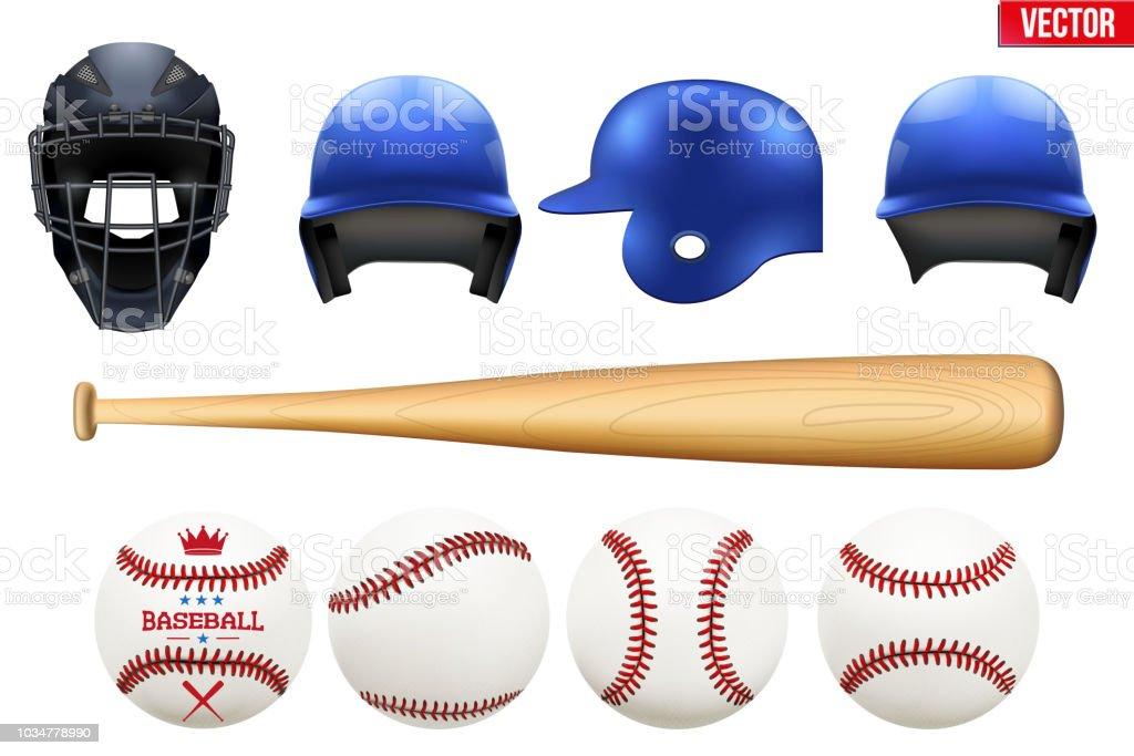 Gran conjunto de equipos de béisbol - ilustración de arte vectorial