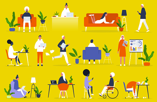 office lifestyle stock illustrations