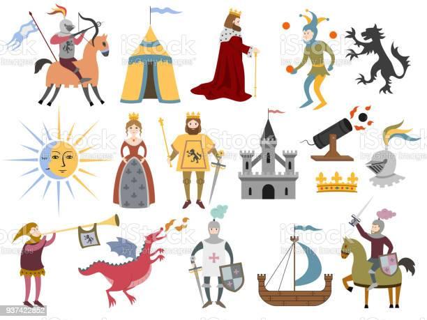 Big set of cartoon medieval characters and medieval attributes vector id937422852?b=1&k=6&m=937422852&s=612x612&h=maojwcnjp8gtjoc7gxrph0e4qty9jvghk12gsl7w0is=