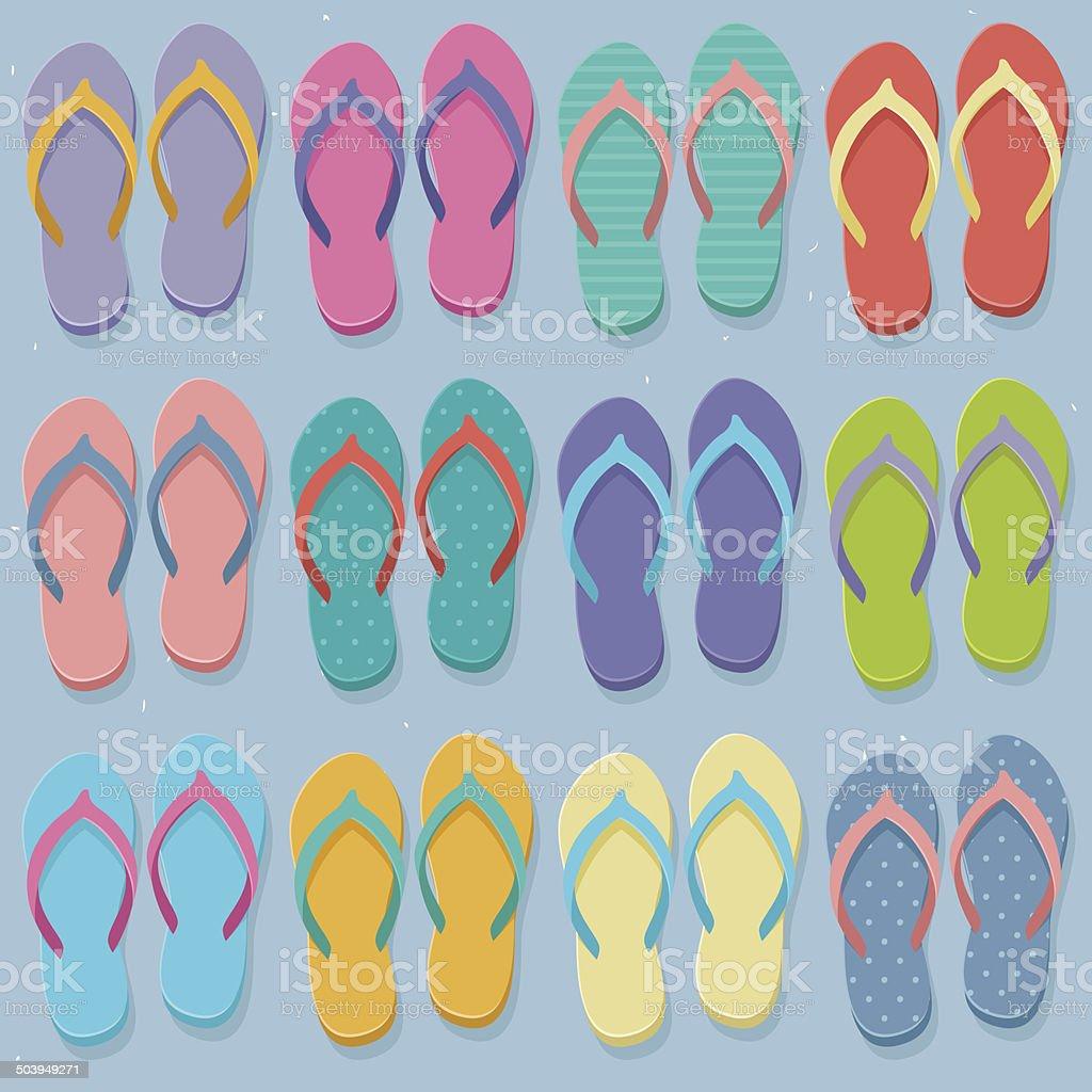 309118397d00 Big set of colorful flip flops royalty-free big set of colorful flip flops  stock