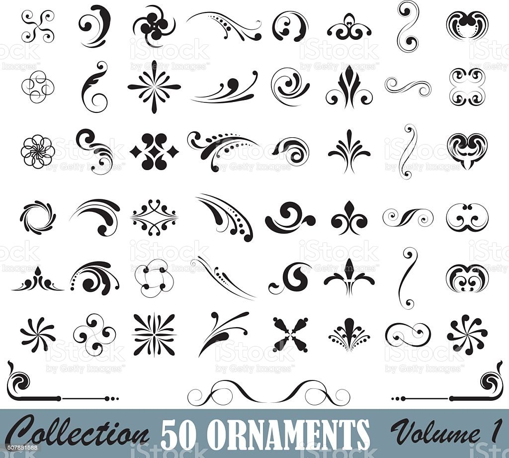 Big set of design elements vector art illustration