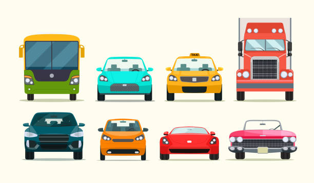 Big set of different models of cars. Vector flat style  illustration Big set of different models of cars. Vector flat style  illustration hatchback stock illustrations