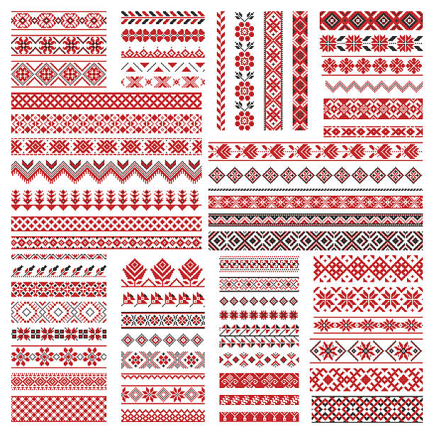Royalty Free Embroidery Pattern Clip Art Vector Images