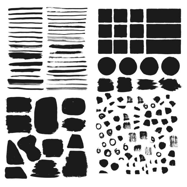 Big set of hand drawn frames, borders, backgrounds. Brush vector isolated. Big set of hand drawn frames, borders, backgrounds. Brush vector isolated. square composition stock illustrations