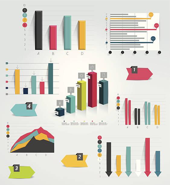 Big set of infographic charts. Vector. vector art illustration