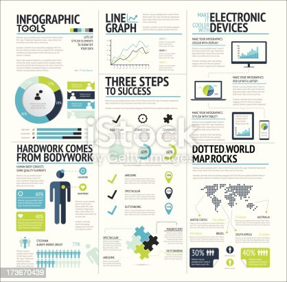 istock Big set of infographic elements lime green icon vector EPS10 173670439