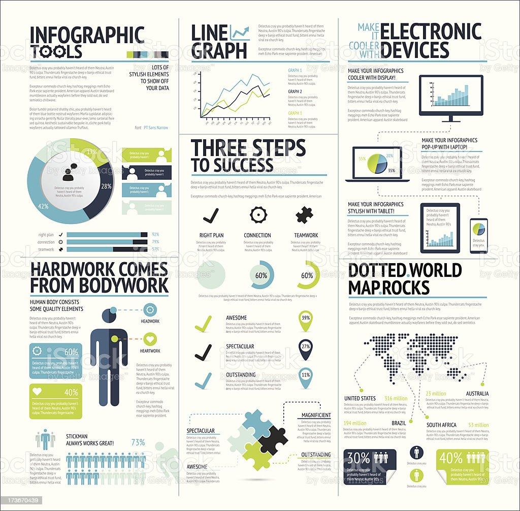 Grand ensemble d'éléments infographiques citron vert icône vector EPS10 - Illustration vectorielle